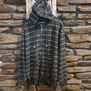 Size XL Galaxy by Harvic green striped jacket
